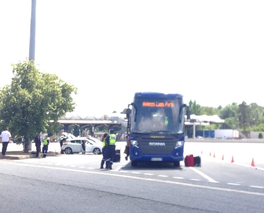 Cacheo de autobús, 20 horas después del atentado de Niza en Francia. 2016.