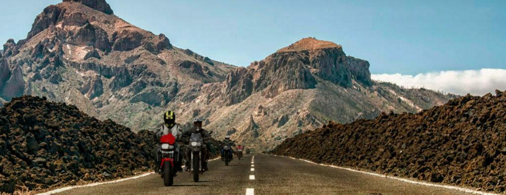 Ruta con moto por Las Cañadas del Teide. Tenerife