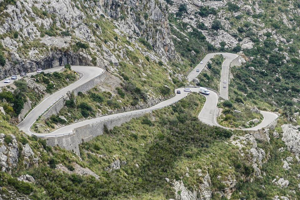 curvas de carreteras españolas