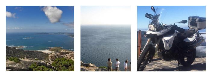 Rutas con moto de Cabo Fisterra a Vigo por las Rías Baixas. GALICIA